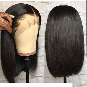 Straight Lace Front Bob Wigs Short Full Lace Wig with Baby Hair Side Part Glueless Lace Front Wig for Women