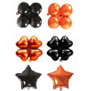 18 zoll halloween folienballons vier kleeblatt herz stern halloween dekorationen heliumballon party supplies jk1909