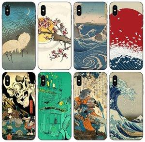 [TongTrade] Rétro art japonais vintage Peintures de cas pour l'iPhone X XS Max Pro 11 8 7 6s Galaxy J7 Huawei Maté 20 HTC Desire Pro 530 cas