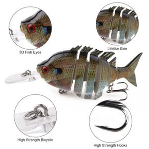 Multi Jointed Panfish Fishing Lure 10cm 12g Artificial Bait SwimPanfish Fake Bait With 2 Hook Fishing Lures Crank Saltwater