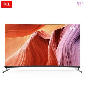 TCL superficie curva servizio AI 55 pollici 4K schermo pieno pieno scena, nuovo prodotto caldo per l'Intelligenza Artificiale TV shipping5 gratis