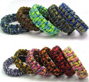 200pcs mix colors you pick Self-rescue Paracord Parachute Cord Bracelets Survival bracelet Camping Travel Kit