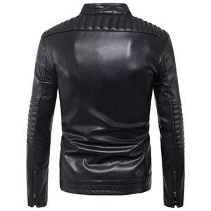 Ouma 2019 New Style Men Locomotive Pull Leather Coat Handsome Leather Jacket Coat Trend Large Size B006