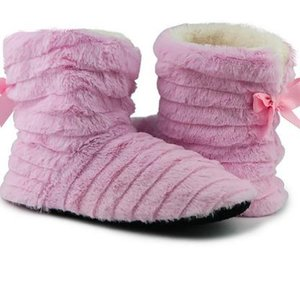 2019 borboleta Inverno Mulheres Fur Chinelos Knot Plush manter aquecido indoor chinelos mulheres borracha casa acolhedora calçados para meninas antiderrapante