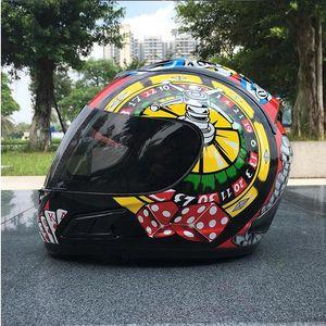 Casque de moto casque hommes de poker et les femmes casques d'équitation