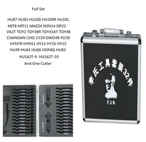 Original 32pcs / set 2 en 1 herramienta LiShi para cerradura y decodificador de coche + 1 juego de reparación de herramientas de cerrajería Lishi Cutter gratis para cerradura de coche
