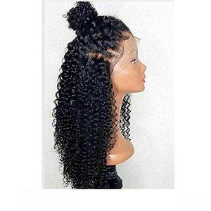 Pré Pincées Crépus Bouclés transparent Hd Dentelle Frontale Perruque afro-américain 360 perruques de cheveux humains 130% Densité pour vente