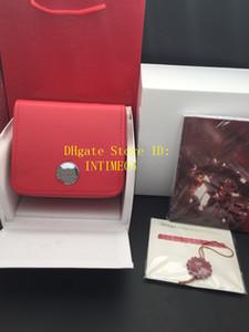 New Square Rot für Omega-Kasten Uhr-Booklet Schlagwörter Und Papiere in Englisch Uhren Box Original-Innen Außen-Mann-Armbanduhr-Kasten
