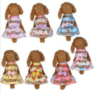 Piccolo Cane gatto principessa Dress primavera-estate del cucciolo dell'animale domestico vestiti gonna per Teddy