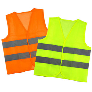 Светоотражающие полосы движения Жилеты Светоотражающий жилет Высокая безопасность видимости жилет для санитаркой помощника полиции Рабочая одежда LJJA3545