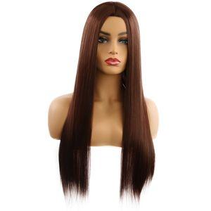 Parrucca cosplay parrucche sintetiche 7 colori Lungo Ombre Marrone Blu Rosso etero bionda parrucca parrucca per Black / White Woman Glueless Capelli
