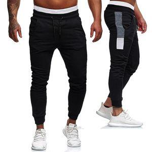Hombres Deportes puro culturismo bolsillo flexible de la cintura de los pantalones largos de ocio pantalón largo de Calle Pantalones de hombre # D5