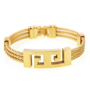 2019 hommes nouvelle tendance de la mode haute qualité luxe vente chaude hip hop grande murale modèle bracelet en fil bracelet exquis accessoires