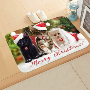 Christmas Carpet Of Animal Fashion Rectangular Mats Entrance Doormats Washable Kitchen Floor Bathroom 40*60cm and 50*80cm