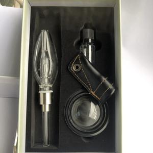 510 Mini freies Glaswasserrohr Bubbler Kit mit 510 Quartz Banger Titanium Tipps Glas Wasser Bongs Rauchpfeifen