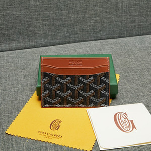 Держатель коробки Goyarrd Goyar карты кожа высокого качества воловья кожа кредитной карты держатель мини бумажник