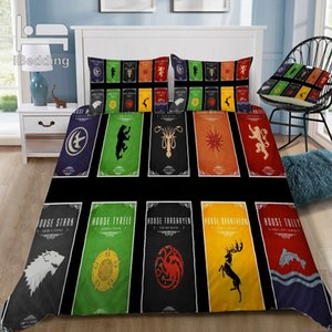 Game-of-thrones-8 Literie 3D Ensemble de housse de couette imprimée Twin Full Queen King Size Dropshipping