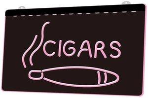 Ls1615 0 cigarros Cigar Shop Nueva Nr Rgb múltiple Color Mando a Distancia muestra 3d grabado Led luz de neón barra de la tienda del club del Pub