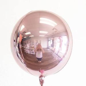 Kuchang 20 unids 22 pulgadas de oro rosa 4d esfera redonda en forma de papel de aluminio globo boda boda fiesta de cumpleaños decoración suministros T8190625