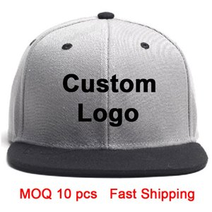 3D sur mesure chapeau broderie logo chapeau plat hip-hop tennis de bord tour complet baseball de camionneur chapeau monté près du sport sur mesure chapeau snapback personnalisé