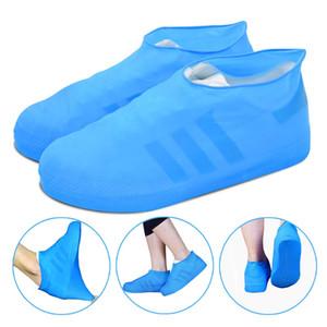 Reusable Rain Snow Boot Shoe Covers Waterproof Rain Socks Silicone Rubber Shoes Overshoes For Men Women Kids Protectors Outdoor