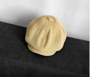 Hat Mulheres Outono Inverno Outono Chapéus Homens Tartan Wool Hat Octogonal Mulheres senhoras Painter Beret Hat Plaid Moda inverno com caixa