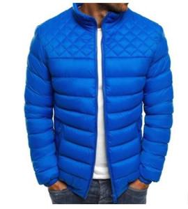 Mens Designer Sólidos baixo Parkas Moda Slim Fit Fique Hombres Collar Coats Jacket