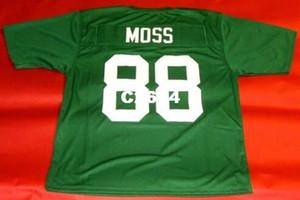 Homens CUSTOM # 88 RANDY MOSS CUSTOM MARSHALL THUNDERING HERD colégio Jersey tamanho s-4XL ou personalizado qualquer nome ou número jersey