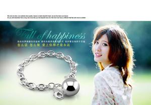 pulsera de plata esterlina, El diseño colgante de campana, joyería r plata, cadena de 20 cm de longitud, pulsera Solid