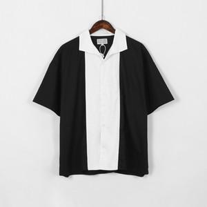 Japan-T-Shirts 2020 Frauen Mann 1 hoch qulity schwarz weißes Naht Panda Farbe T-Shirt Top-T-Shirt S-XL