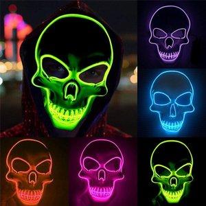 Halloween Mask Led Maske Light Up Party Masks Neon Maska Cosplay Mascara Horror Mascarillas Glow In Dark Masque Luminous Toy lMivJ