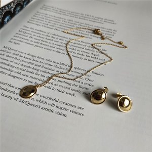 POFUNUO 925 костюмов ювелирные изделия ожерелье стерлингового серебра женщин Прекрасные девушки цвета золота Sexy Чокеры Изысканный ожерелье Минималистский