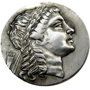 G (12) Rare Large Medallic Ancient Greek Tetradrachm Silver Coin de Myrina Aeolis - 150BC copy coins