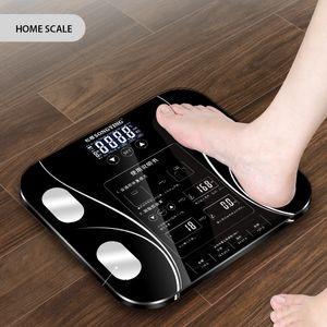 Baño caliente Grasa corporal Bmi Escala Peso humano digital Escalas Mi piso Pantalla lcd Índice del cuerpo Balanzas de pesaje inteligentes electrónicas