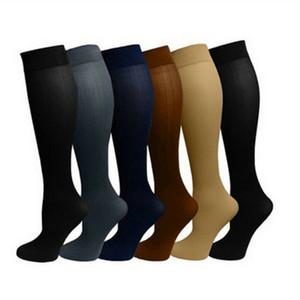 جديد 1 الضغط الزوج للجنسين جوارب ضغط جوارب الدوالي الجورب الركبة عالية الساق دعم تمتد الدورة الدموية الضغط