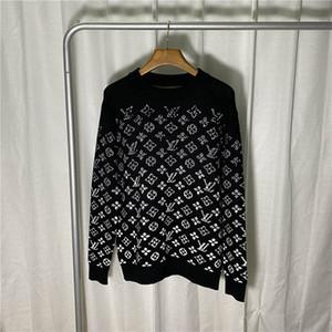 Moda de lã preto clássico Camisolas Designer casal homens mulheres Sweaters mangas compridas letra impressa Camisolas Outono solto pulôver