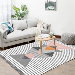 Nordic Geometric Abstract Pattern Teppich Teppiche für Wohnzimmer Teppiche für Kinderzimmer Anti-Rutsch-und Anti-Falten-Bodenmatte