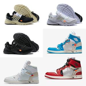 2019 white air jordan Retro off Jordans Nike pallacanestro Retroes economici Bred Toe UNC Blu Bianco Uomini Donne Presto V2 Trainer Designer Shoes Sport