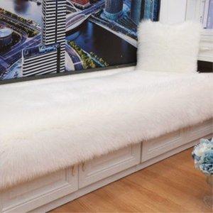 Bunter Pelz-Wollteppich-Wohnzimmer-Kaffeetisch-Fensterbrett-Nachttisch-Matte