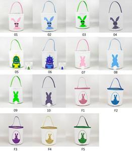 Сумки 15styles Easter Basket Easter Bunny хранение яйцо Конфета Корзина Bucket Холст пришивание хранение Tote Easter Rabbit Сумка GGA3189