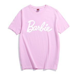 2020 Lettre Barbie en coton imprimé T-shirt sexy pour femmes T-shirt graphique Tumblr t gris rose T-shirts occasionnels Bae Tops Tenues tees Shirts