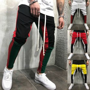 Men's Spring Gym Slim Fit Trousers Outdoor Running Tracksuit Bottoms Skinny Joggers Sweat Sports Pants