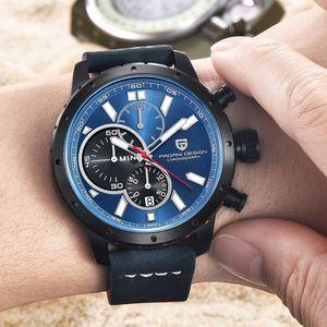 2021 Saatler Erkekler Gerçek Altı Pin Khronograph Spor Saatler Marka Pagani Tasarım Lüks Kuvars İzle Reloj Hombre Relogio Masculino 2018