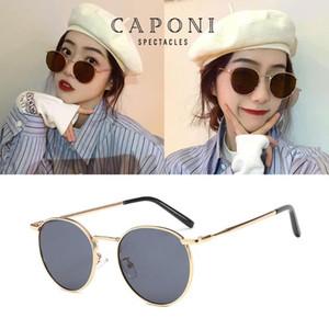 CAPONI 2020 Frauen Shades polarisierte Klare Linse Oval Brillen New Trending Sonnenbrillen für Femel CP1871