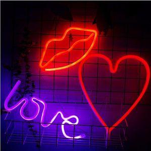 USB llevó la luz de la batería Carga de Amor letras decorativas de vacaciones Flamingo Led Cactus Nuvem corazón Led / Nube de la lámpara Inicio