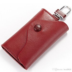 Car Key Wallet 100% Genuine Leather Housekeeper Keys Organizer Bank Card Holder Multifunction Money Pocket Wallet Handbag Purse