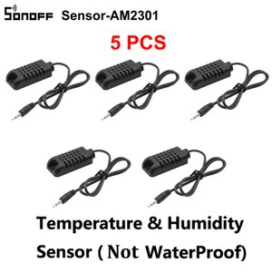 5PCS / Lot Sonoff Sensor AM2301 Temperatura Umidade Sensor DS1820 Temperatura Probe Módulo alta precisão do sensor Sonoff TH16 TH10