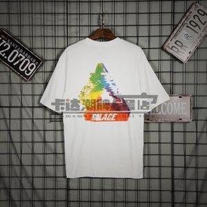 Europei e americani street modo di marca Palace Classic Triangolo Graffiti T-shirt uomini e le donne della celebrità Coppia Ispirato bicchierino Slee