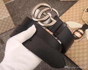 La venta caliente nueva para mujer para hombre de la correa negro correas de cuero genuinas de la correa del negocio de la correa de color patrón de la serpiente de la hebilla pura para a1371 regalo