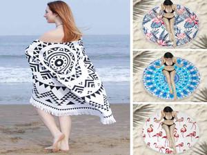 Beach towel microfiber round tassel beach towel beach bath towel